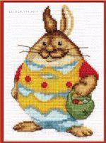схема вышивки Пасхальный кролик (150x201, 42Kb)