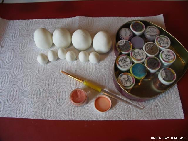 3D торт из марципана с кружевными пасхальными яйцами (5) (640x480, 130Kb)