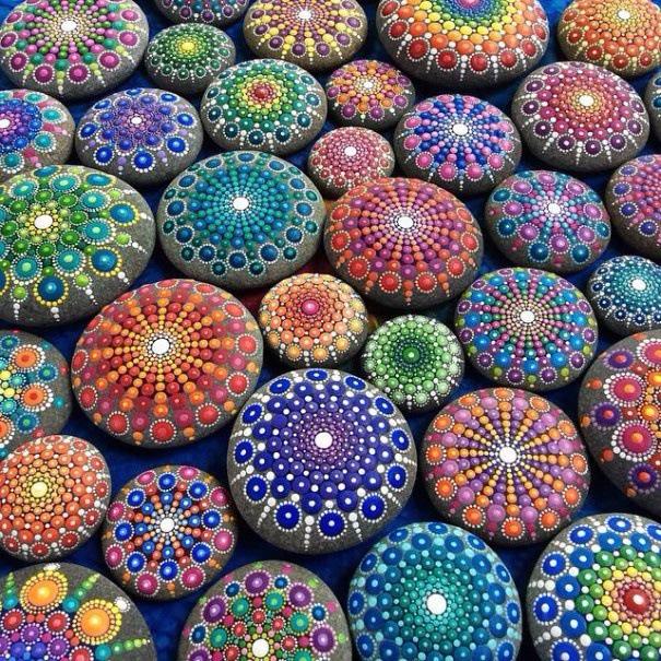 Figures on stones