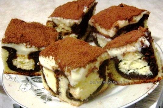 торт с творожными шариками внутри рецепт с фото
