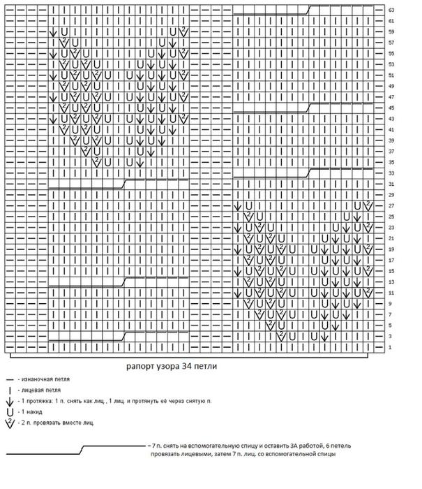 узор спицами для3 (605x700, 274Kb)