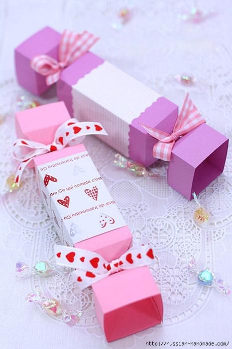 КОНФЕТЫ - подарочная упаковка из бумаги (1) (466x700, 217Kb)