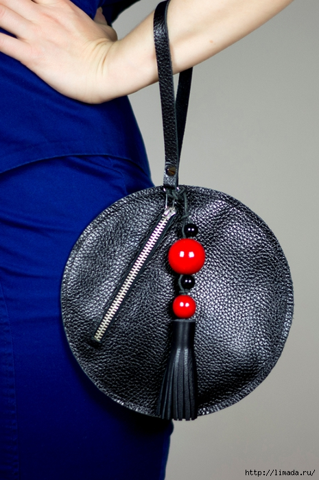 diy leather round clutch bywww.fashionrolla.com-18 (465x700, 253Kb)