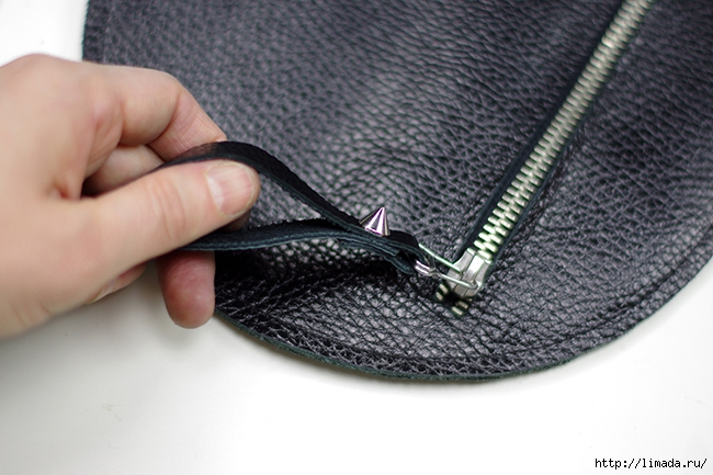 diy leather round clutch by www.fashionrolla.com-15 (650x433, 210Kb)