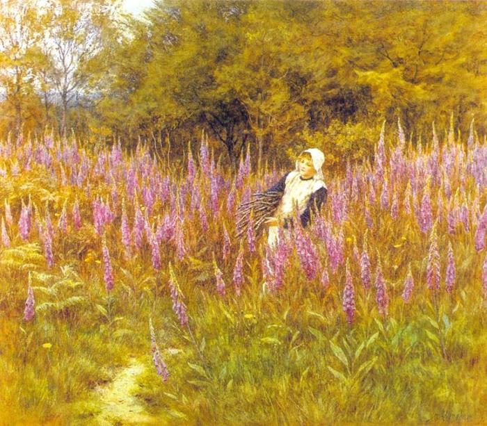 英国 Helen Allingham 的水彩画欣赏 - milk  - ☆ Milk ☆ 平平。淡淡。也是真。