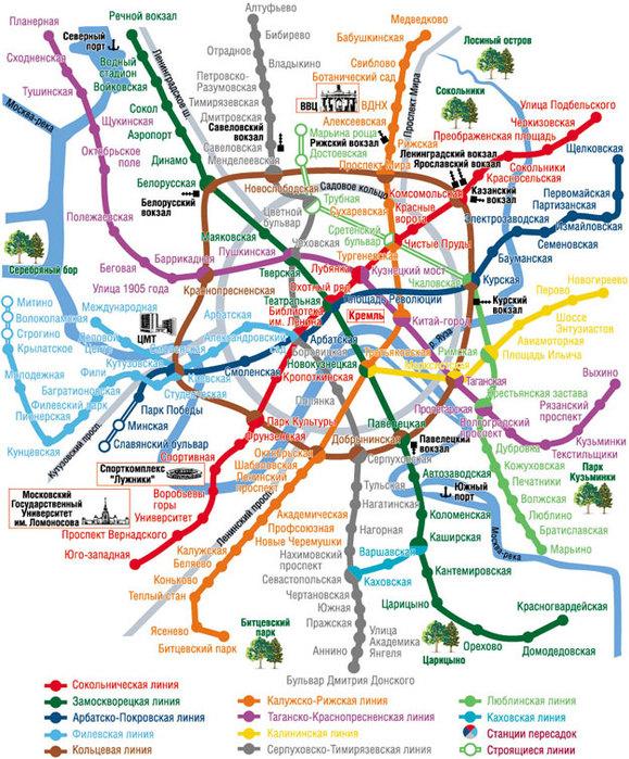 метро. Схема метро москва