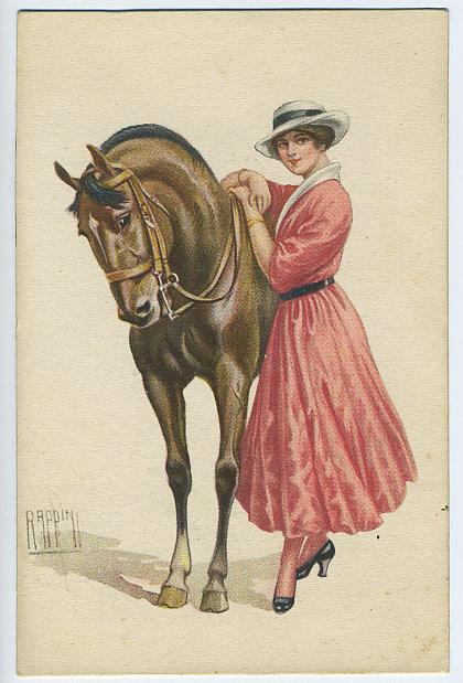 Старинные открытки с лошадьми 26