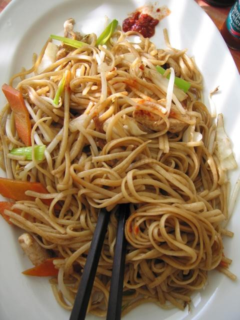 Лапша с овощами китайская кухня