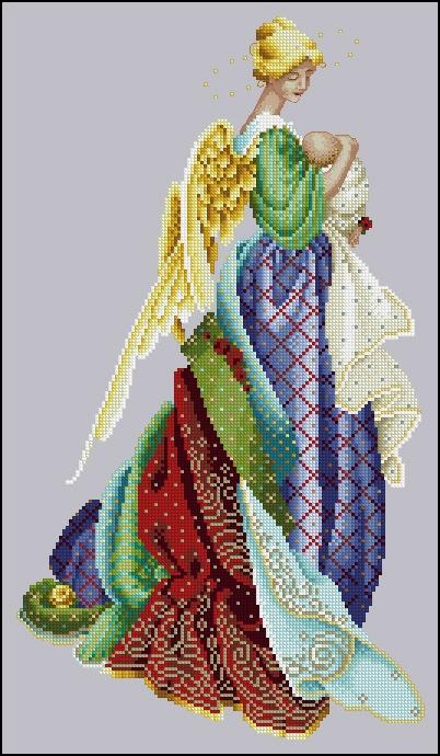 Схема В руках ангела 47,Lavender & Lace,Схемы для вышивки крестом,Печатная продукция,ангелы,.  Рукоделие.