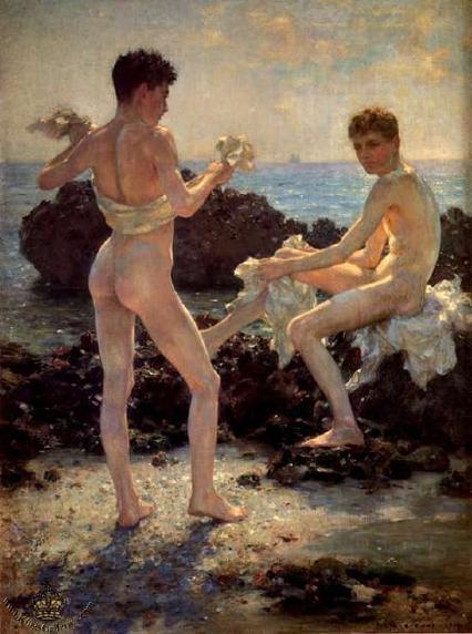 Юноши на пляже фото 616-51