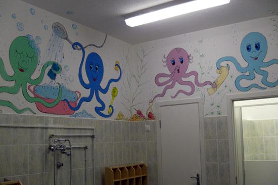Оформление туалета в детском саду