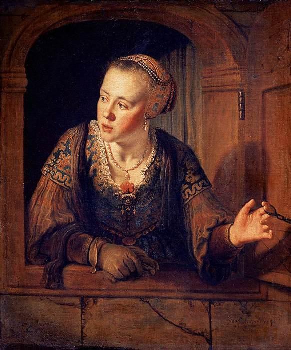 девушка в окне Ян Викторс
