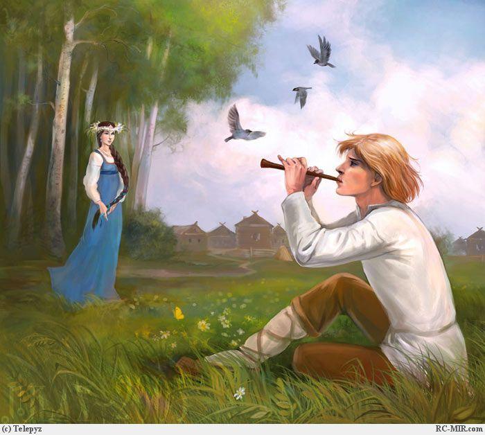 Заплетут их снова в косы, Ленты яркие навесят, И венки сплетут на радость, Чтоб с.
