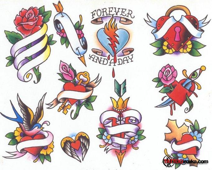 эскизы татуировок old school: