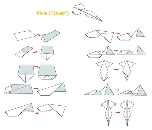 Самолетики из бумаги своими руками схемы видео