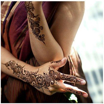 Мехинди - роспись тела хной.