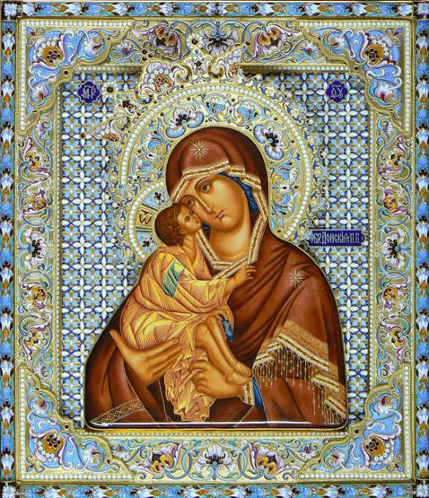 Рубрики: СХЕМЫ ВЫШИВКИ КРЕСТОМ/Иконы,храмы, библейские сюжеты .  Теги: икона богородица.