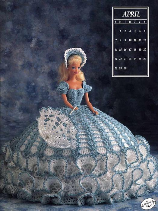 Платье сделано для Барби, но красота модели позволяет связать шикарное платьице для девочки.  Чехол под платьем на...