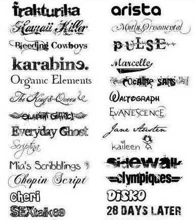 650 потрясно красивых шрифтов