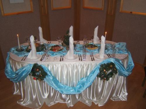 Оформление новогоднего стола.