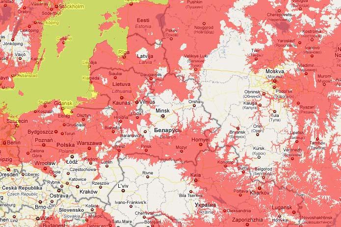 Flood map