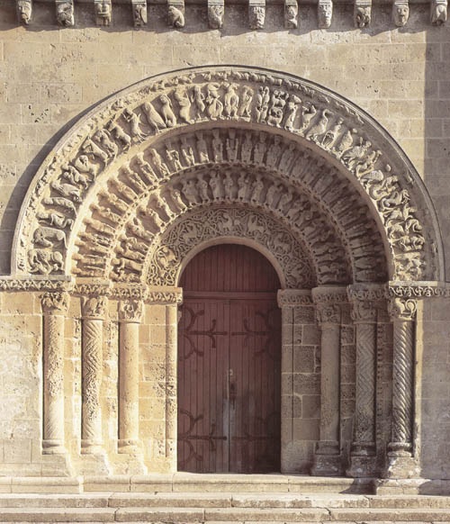 Портал собора Аулне, Сентож, Франция