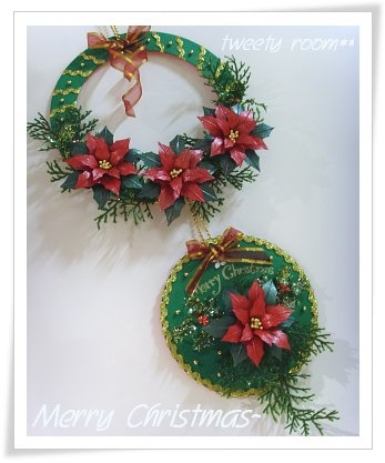 making christmas flowers tutorial