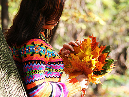 Осень картинки девушки