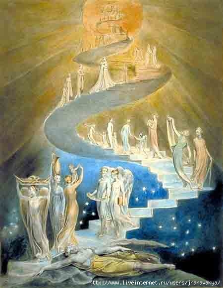 Лестница Иакова, гравюра, Уильям Блейк - Клуб учителей иностранных языков.