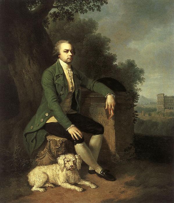 Портрет князя н б юсупова с собакой