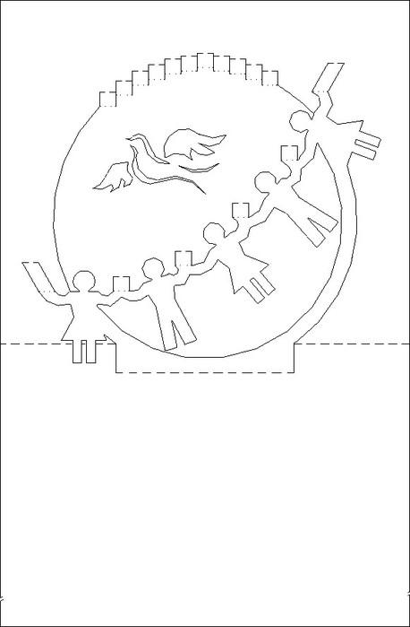 Несколько готовых идей таких открыток и схемы для их создания.  Интересные темы.  Декорирование открыток, объемная...
