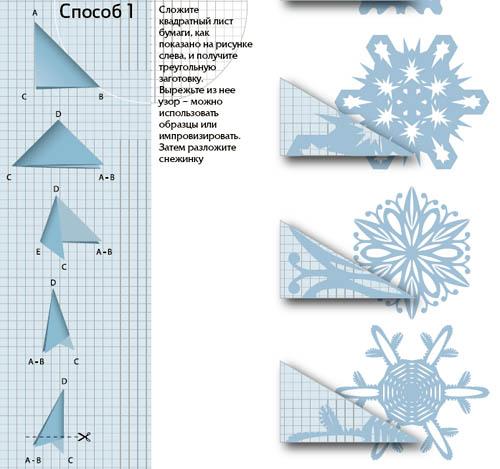 Как сделать объемную снежинку из бумаги: фото и видео 86