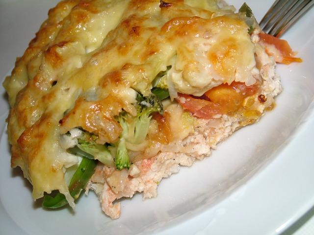 Запеканка с курицей и овощами рецепт