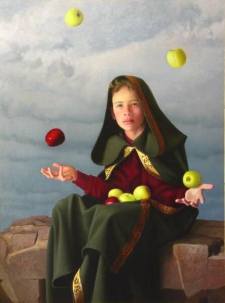 Когда дошел черед до него, монахи хотели прекратить церемонию, ибо бедный жонглер ничего не мог сказать Пречистой...