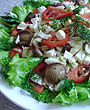 Салат с моцареллой и маслятами