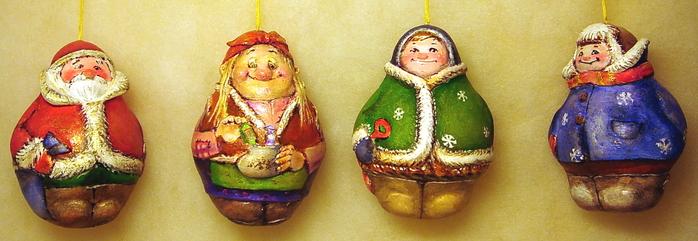 Новогодние игрушки из папье маше