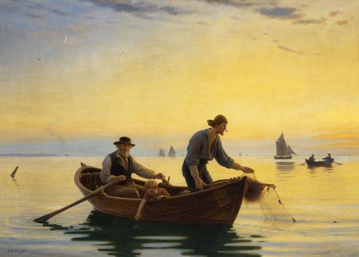 Сидят, значит, три мужика в лодке...