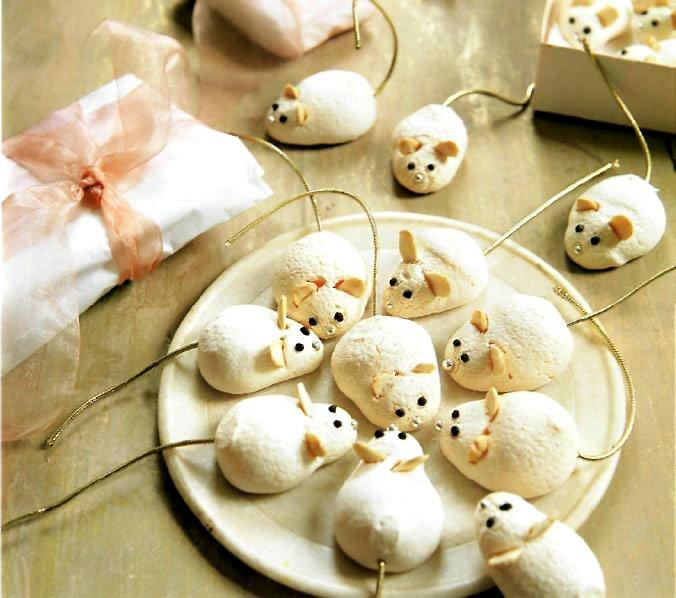рецепт пирожное мышки-меренги десерт