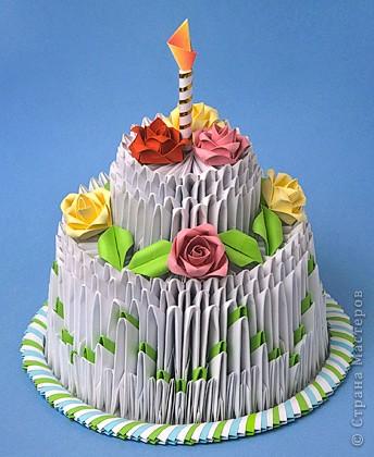 Еще модульное оригами.  Торт.  Лебедь.  Рецепт торта.  Прочитать целикомВ.