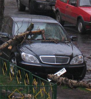Москва, декабрь 2008, автомобиль