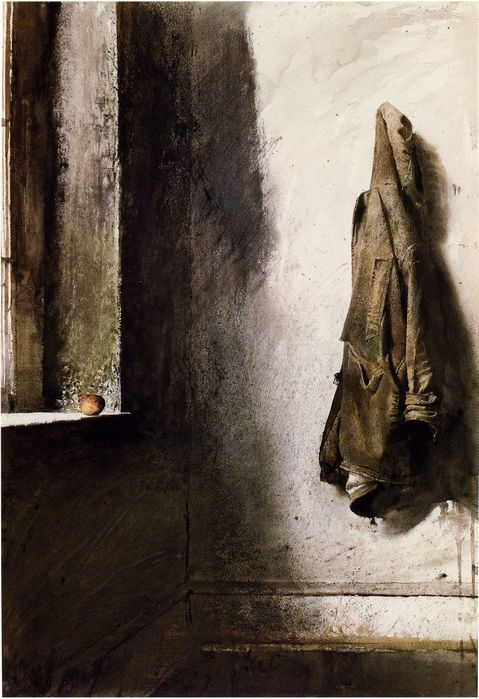 Andrew Wyeth   ,,Willard's Coat, 1968 (479x699, 68Kb)