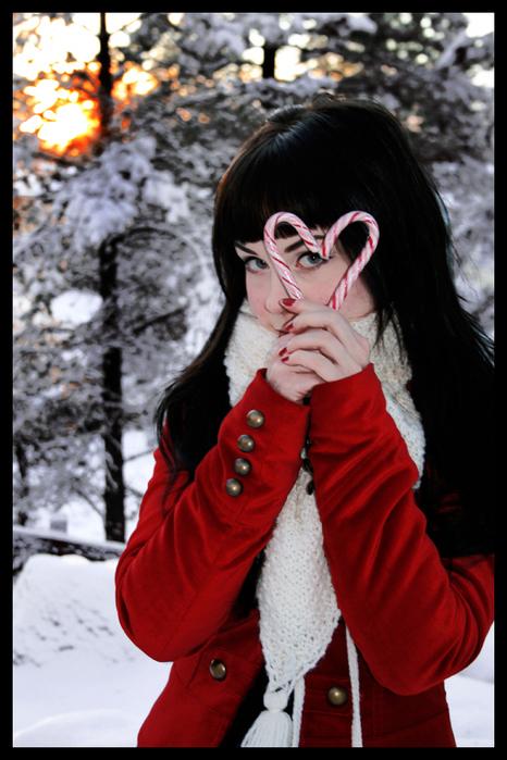 Фото девушки брюнетки в новый год