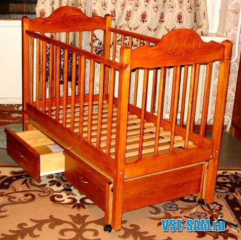 Как сделать детскую кроватку своими руками с инструкцией и фото