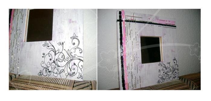 Акриловые краски, кракелюр, бисер, клей.  Банальная рамка из ikea.
