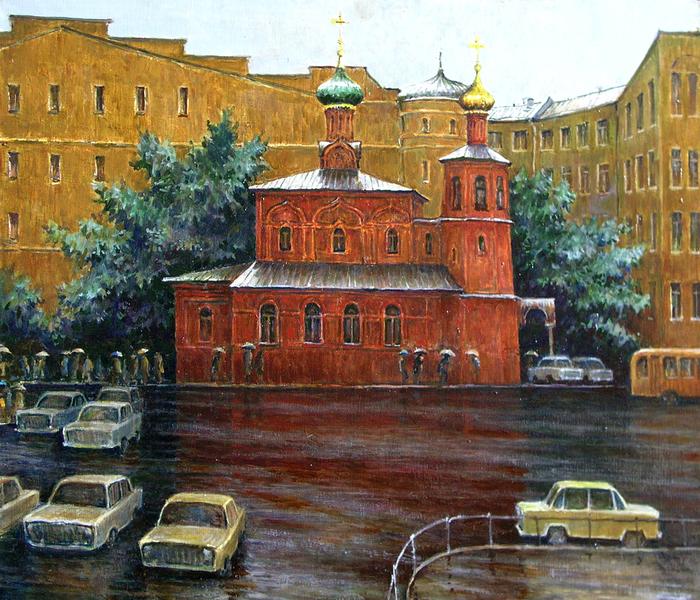 В. Качанов. Всесвятская церковь. Дождь, 1993 г.