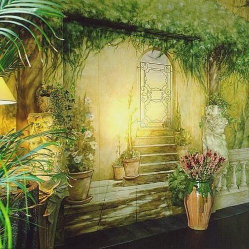Чем рисуют картины на стенах в доме