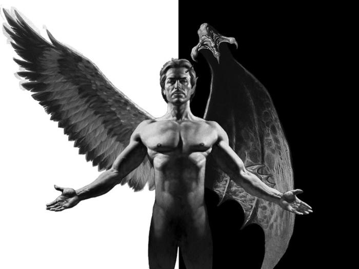 культ Сатаны. Сатана. Дьявол. Люцифер ( фото, видео, демотиваторы, картинки) - Страница 3 39142747_angel_i_demon