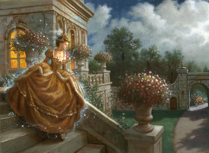 """свой цитатник или сообщество!  Очаровательные иллюстрации к сказке  """"Золушка """" от Ruth Sanderson.  Прочитать целикомВ."""