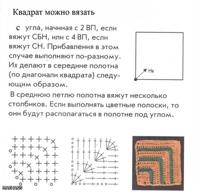 Вязание с угла спицами 94