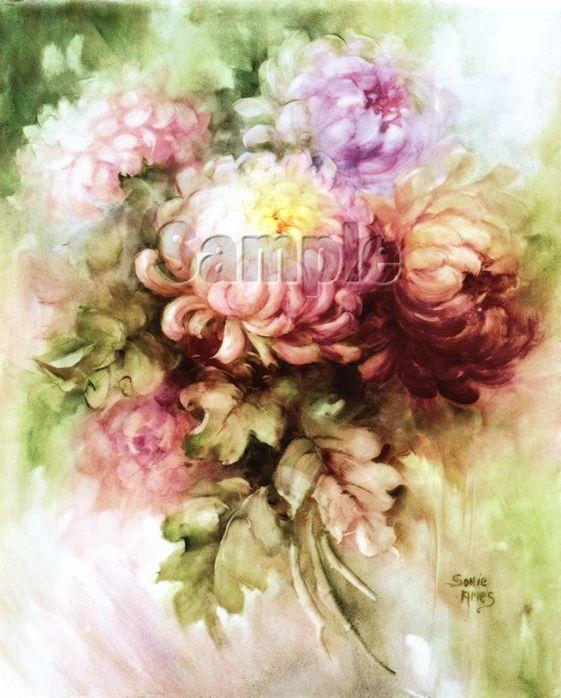 Винтажные картинки для декупажа цветы 4